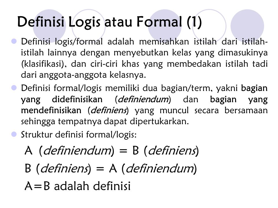 Definisi Logis atau Formal (1)