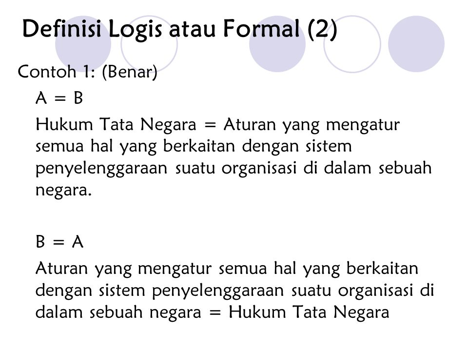 Definisi Logis atau Formal (2)