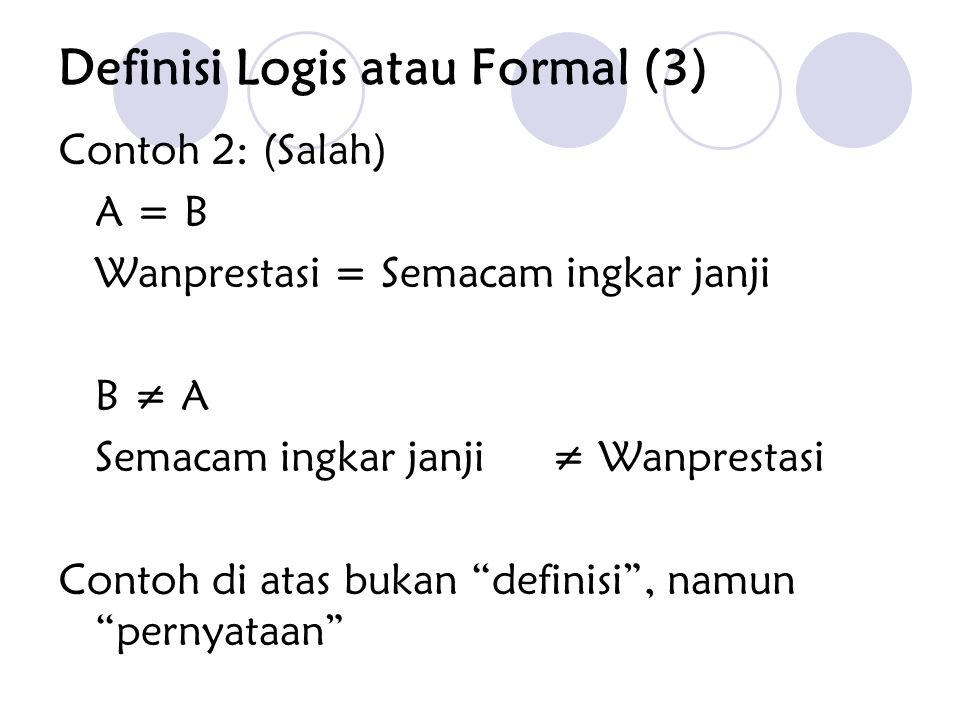 Definisi Logis atau Formal (3)