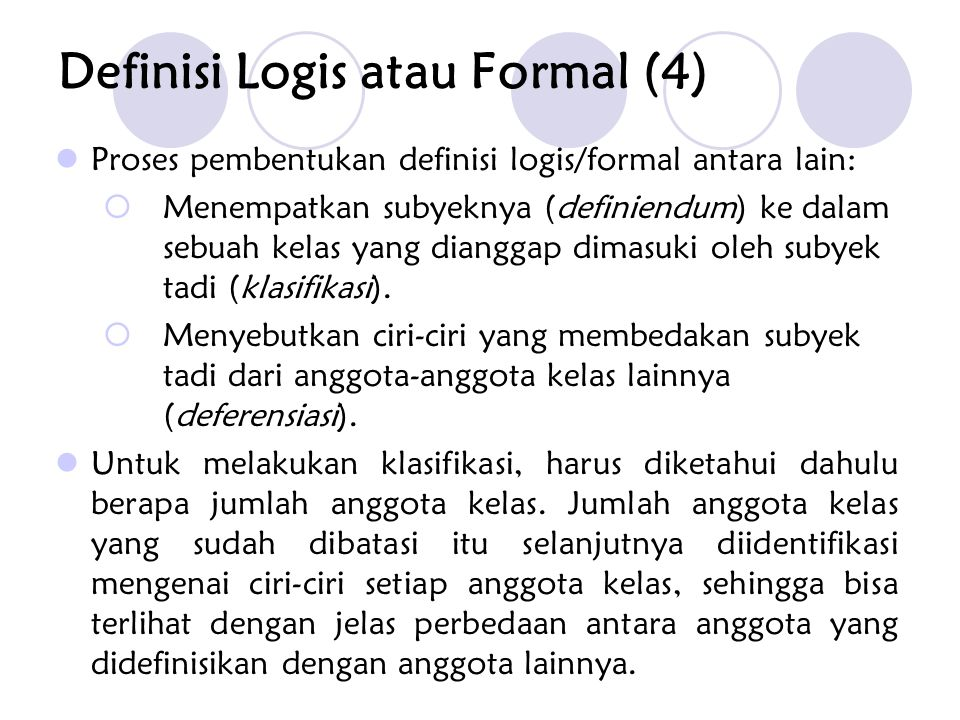 Definisi Logis atau Formal (4)
