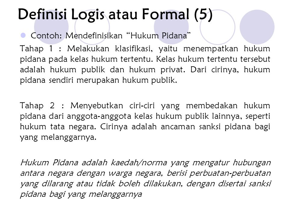 Definisi Logis atau Formal (5)