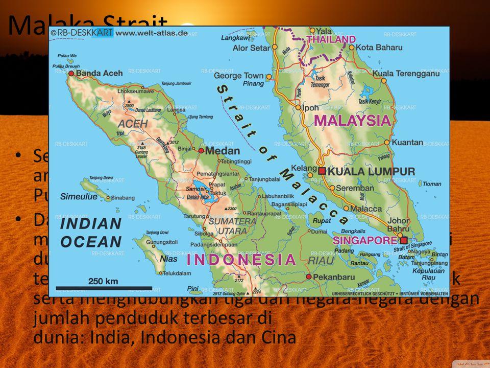 Malaka Strait.. Selat Malaka adalah sebuah selat yang terletak di antara Malaysia Thailand, Malaysia,Singapura dan Pulau Sumatra Indonesia.