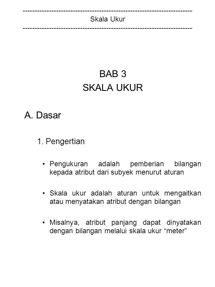 BAB 3 SKALA UKUR A. Dasar 1. Pengertian