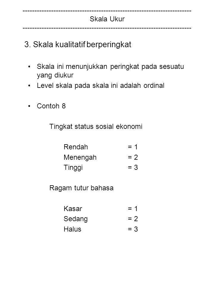 3. Skala kualitatif berperingkat