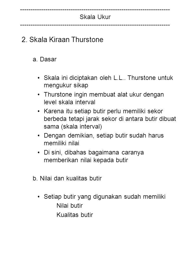 2. Skala Kiraan Thurstone