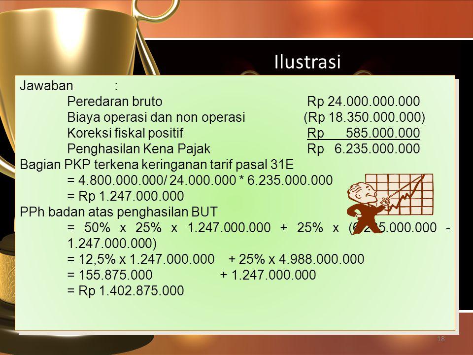 Ilustrasi Jawaban : Peredaran bruto Rp 24.000.000.000