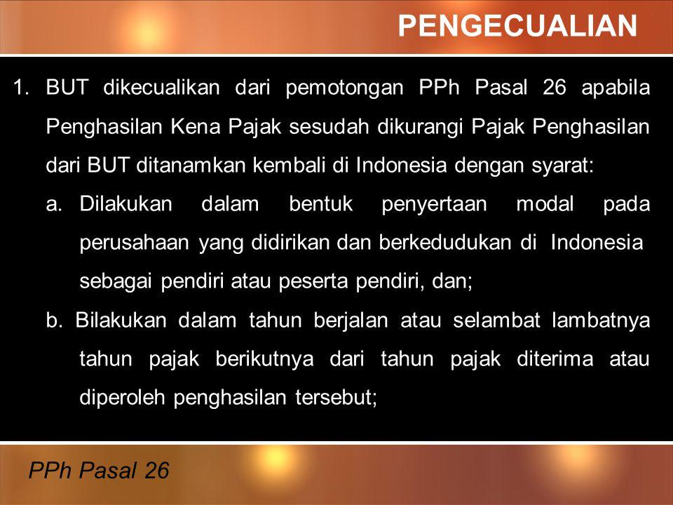 PENGECUALIAN PPh Pasal 26