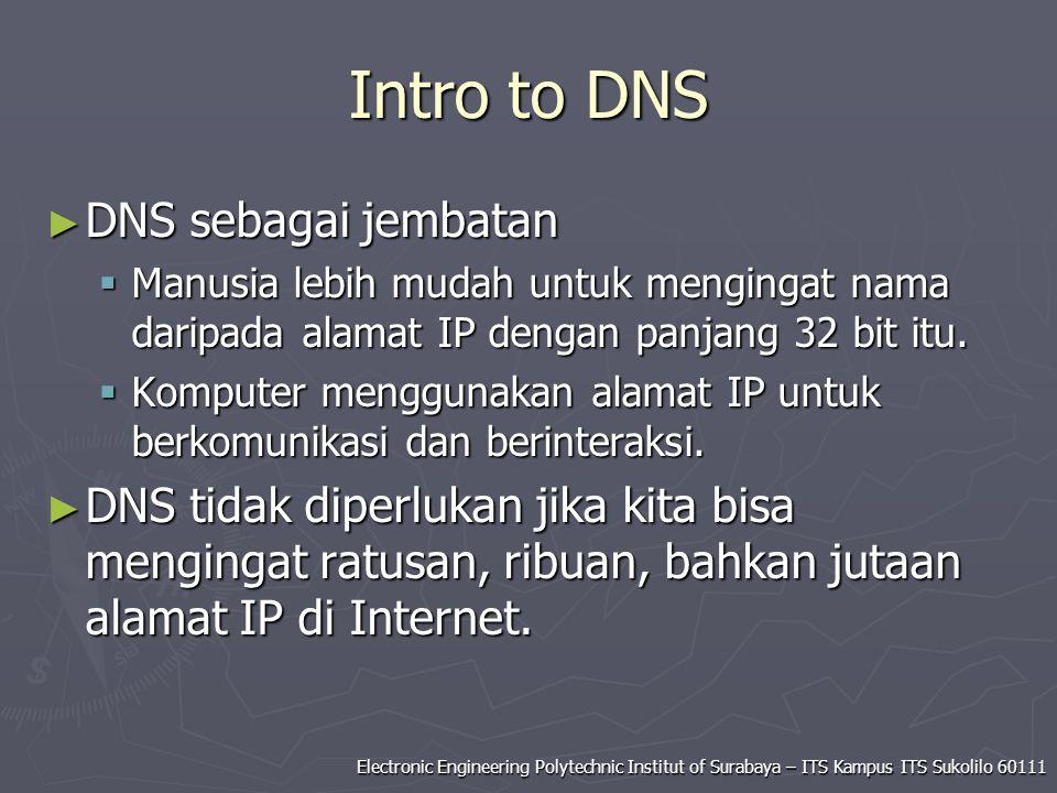 Intro to DNS DNS sebagai jembatan