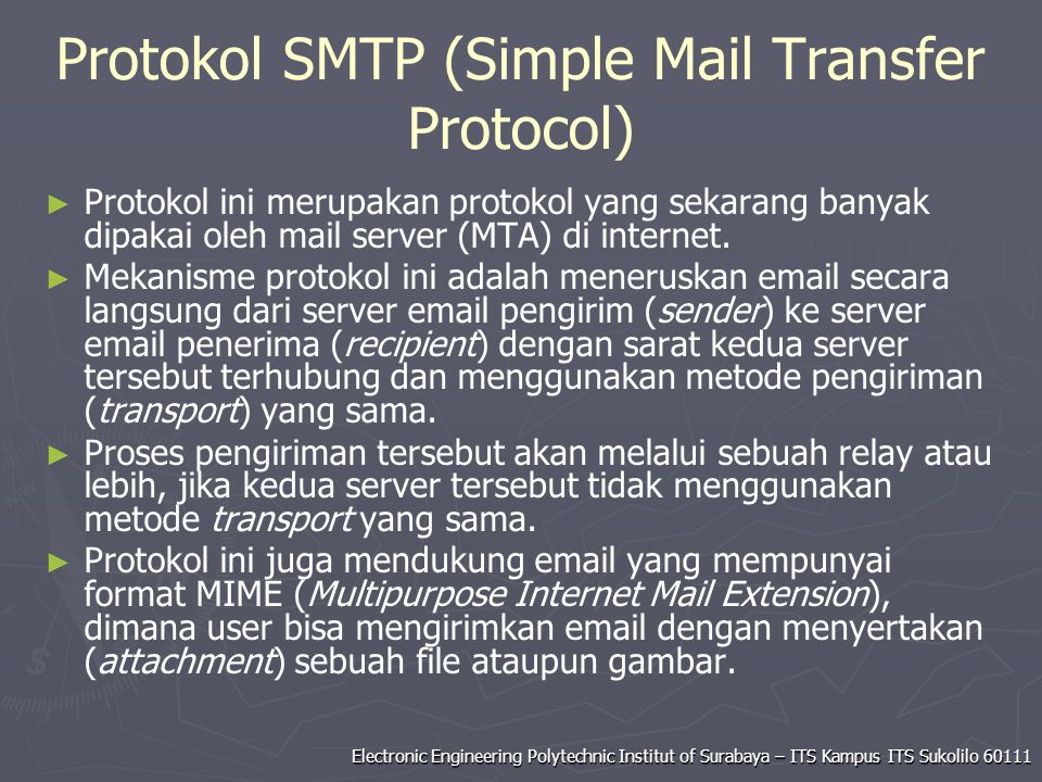 Protokol SMTP (Simple Mail Transfer Protocol)