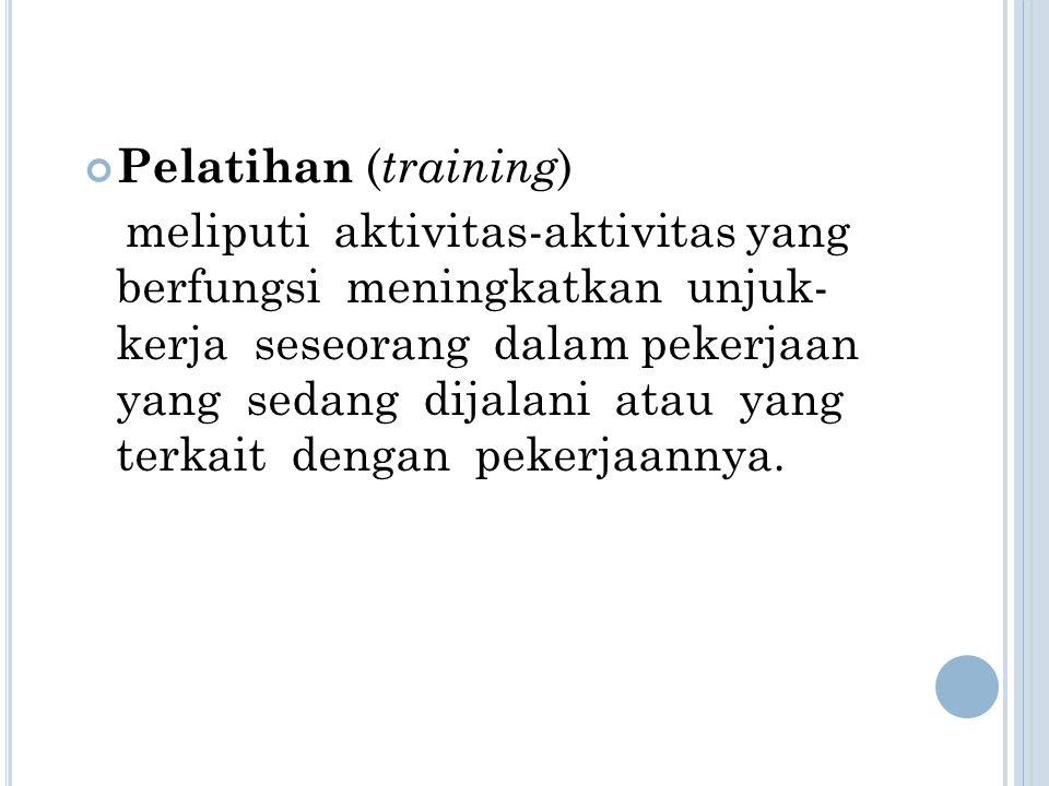 Pelatihan (training)