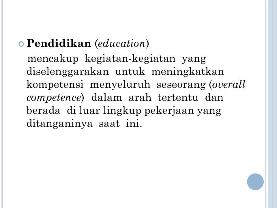 Pendidikan (education)