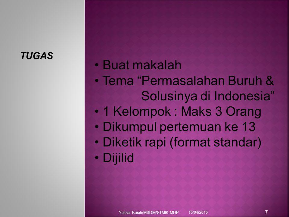 Tema Permasalahan Buruh & Solusinya di Indonesia