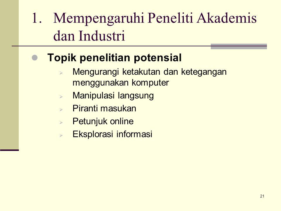 Mempengaruhi Peneliti Akademis dan Industri