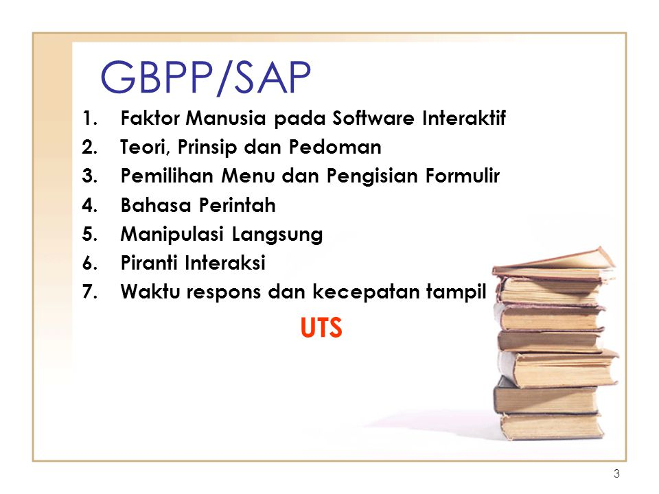 GBPP/SAP UTS Faktor Manusia pada Software Interaktif