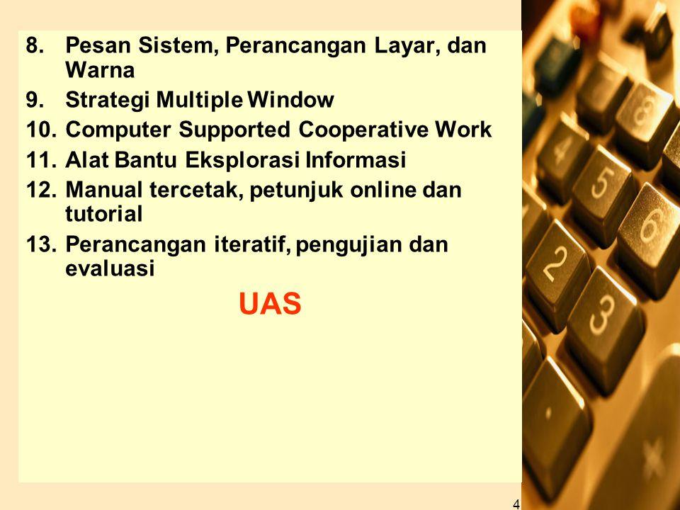 UAS Pesan Sistem, Perancangan Layar, dan Warna