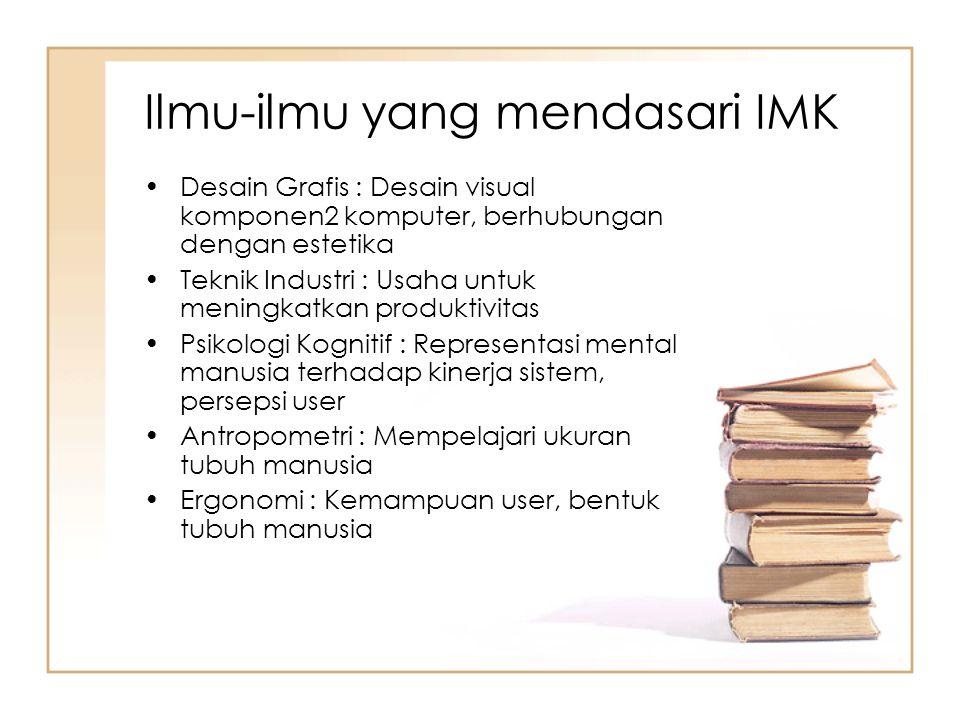 Ilmu-ilmu yang mendasari IMK