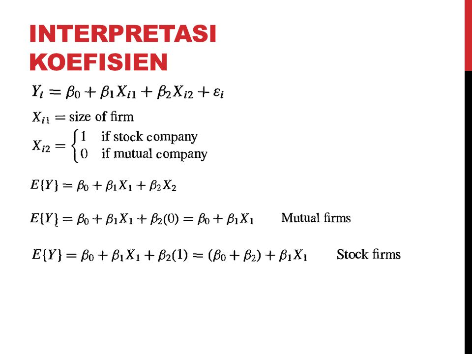 Interpretasi koefisien