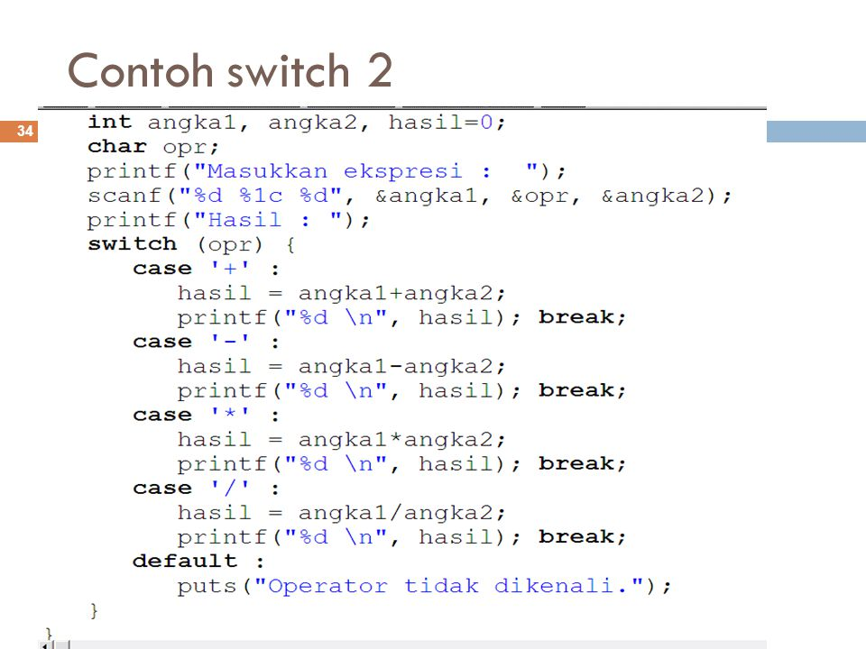 Contoh switch 2