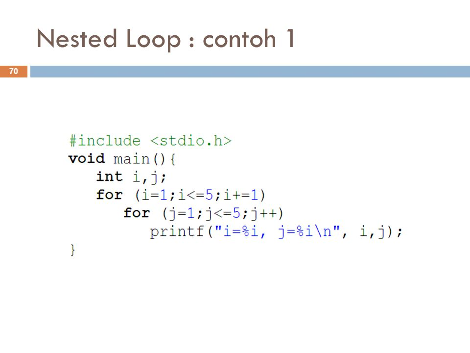 Nested Loop : contoh 1