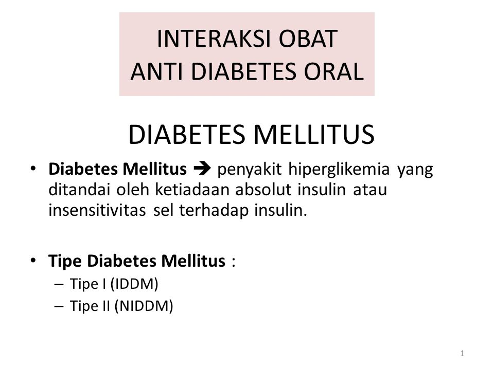 INTERAKSI OBAT ANTI DIABETES ORAL