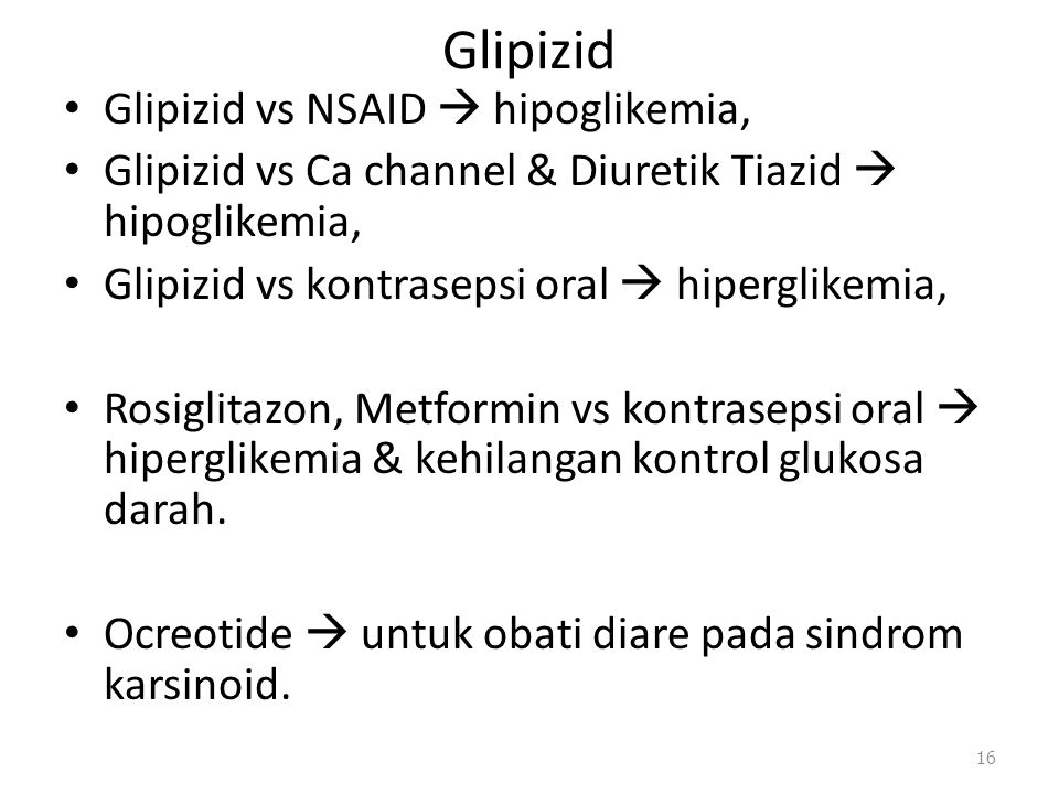 Glipizid Glipizid vs NSAID  hipoglikemia,