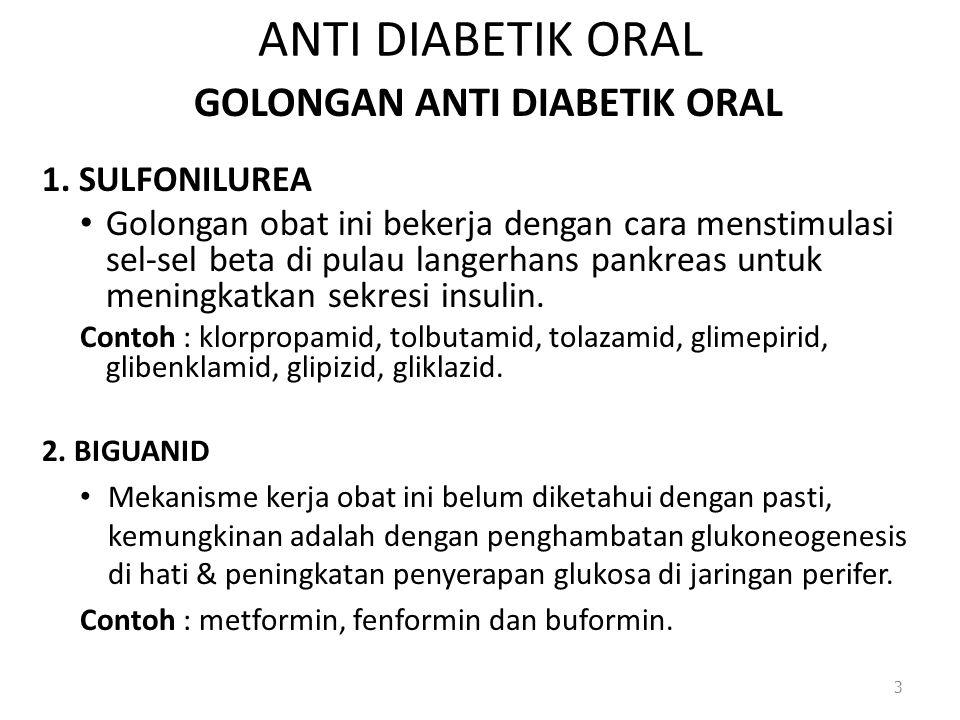 GOLONGAN ANTI DIABETIK ORAL