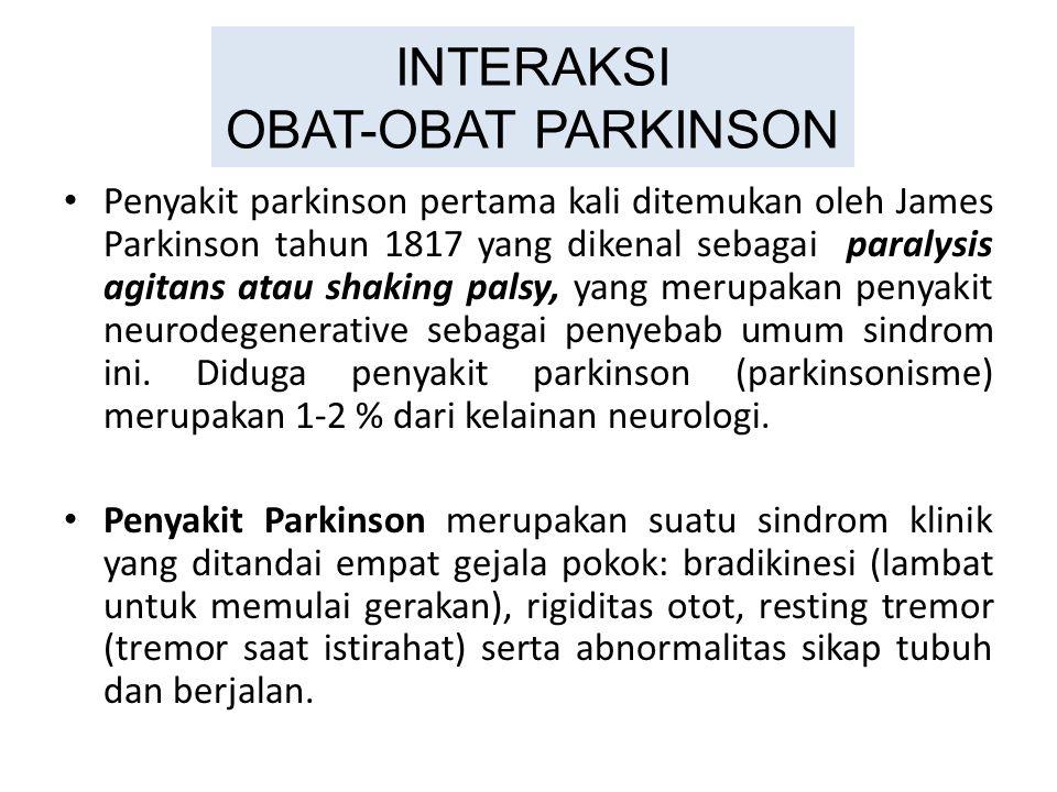INTERAKSI OBAT-OBAT PARKINSON