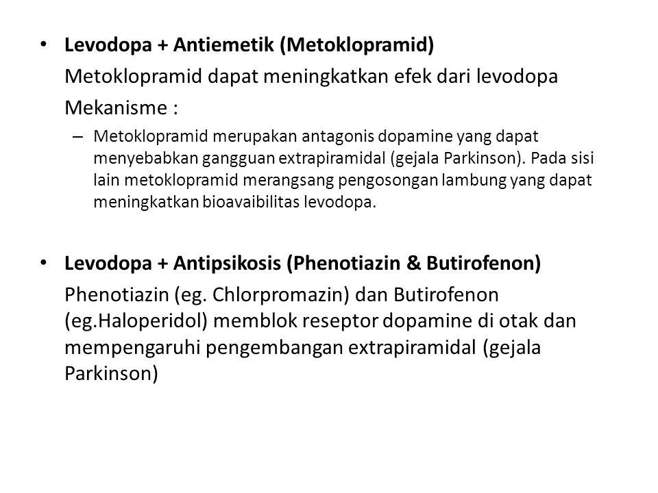 Levodopa + Antiemetik (Metoklopramid)