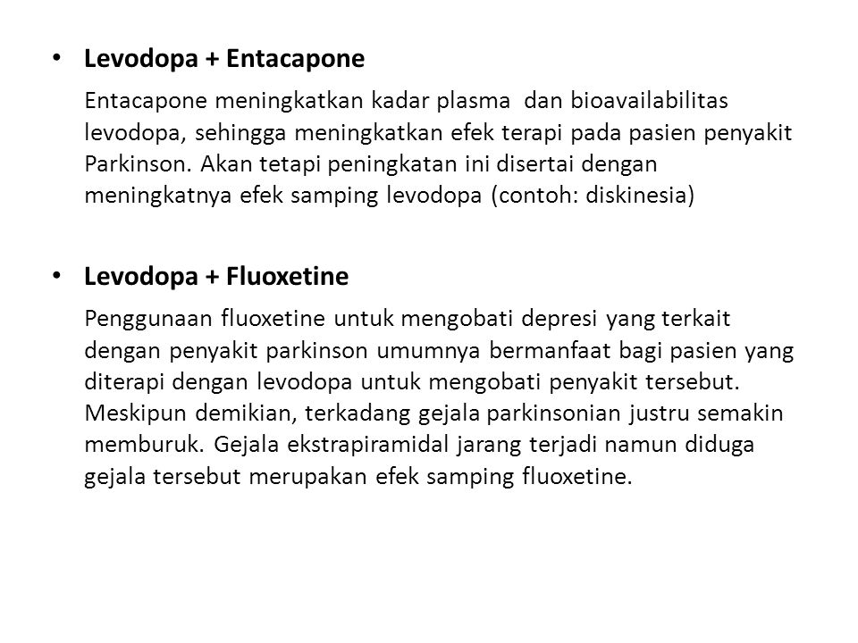 Levodopa + Entacapone