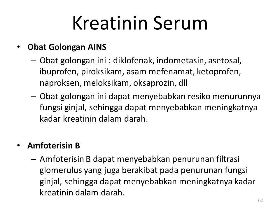 Kreatinin Serum Obat Golongan AINS