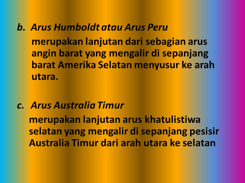 Arus Humboldt atau Arus Peru