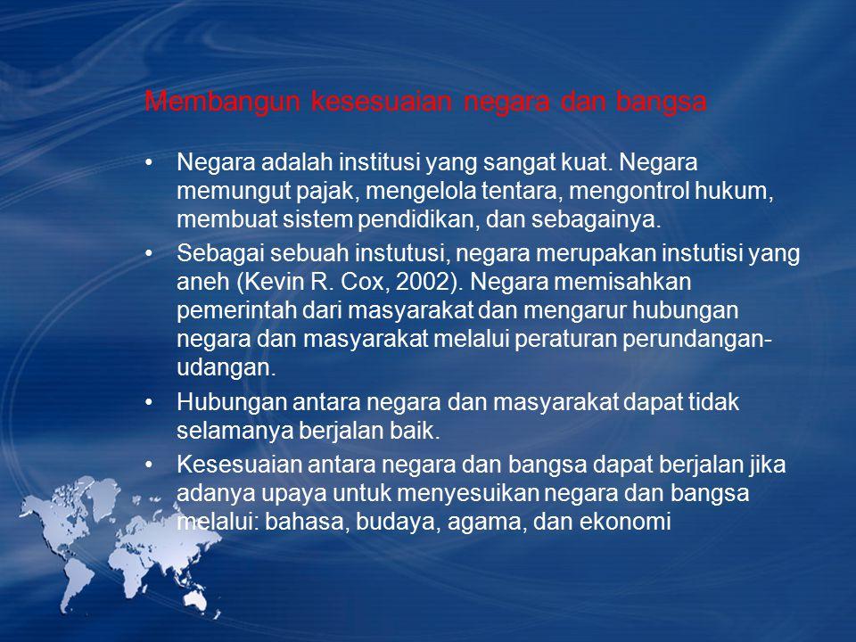 Membangun kesesuaian negara dan bangsa