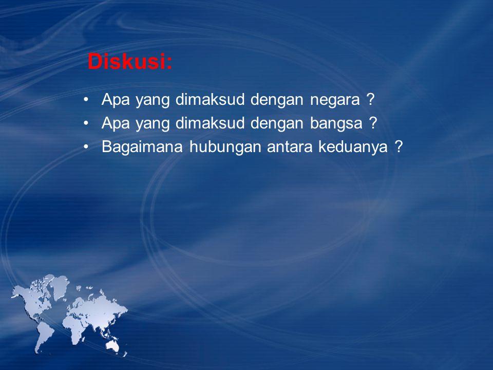 Diskusi: Apa yang dimaksud dengan negara