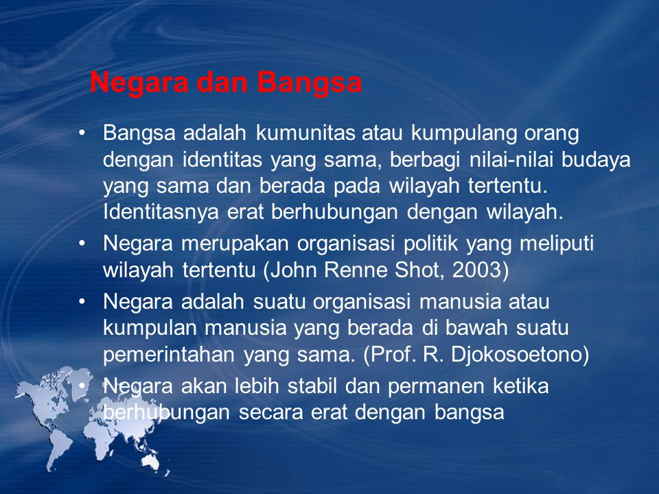 Negara dan Bangsa