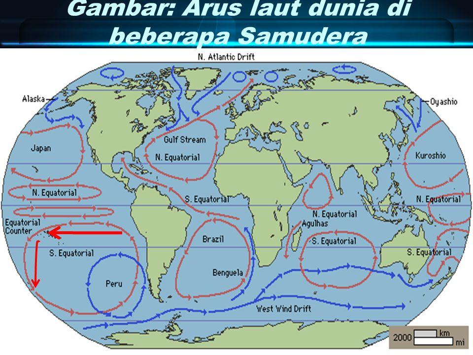 Gambar: Arus laut dunia di beberapa Samudera