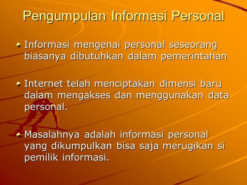 Pengumpulan Informasi Personal