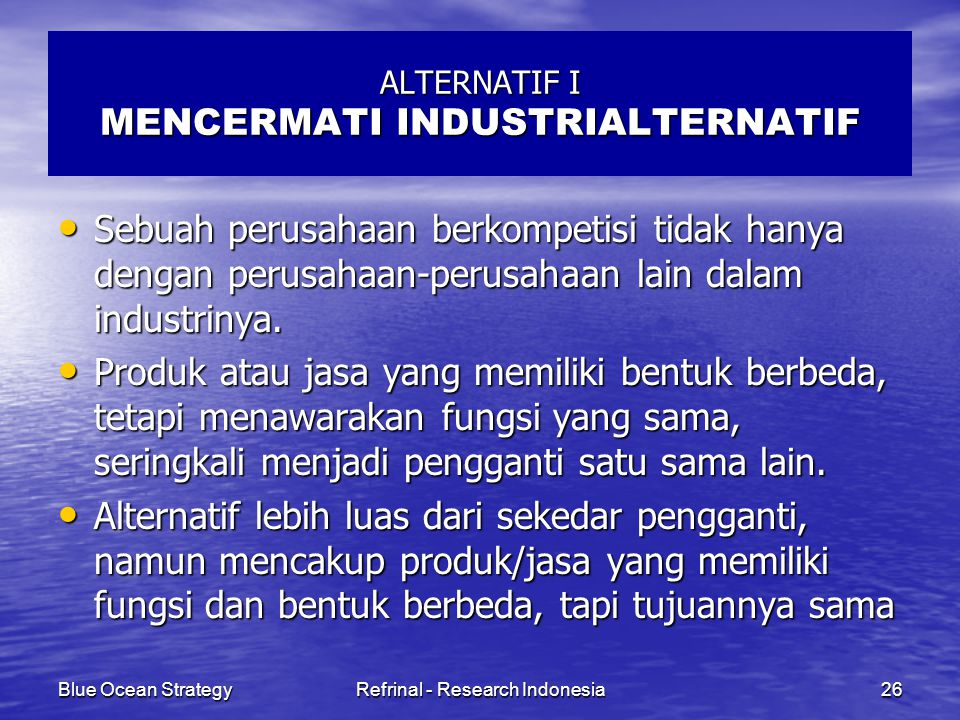 ALTERNATIF I MENCERMATI INDUSTRIALTERNATIF