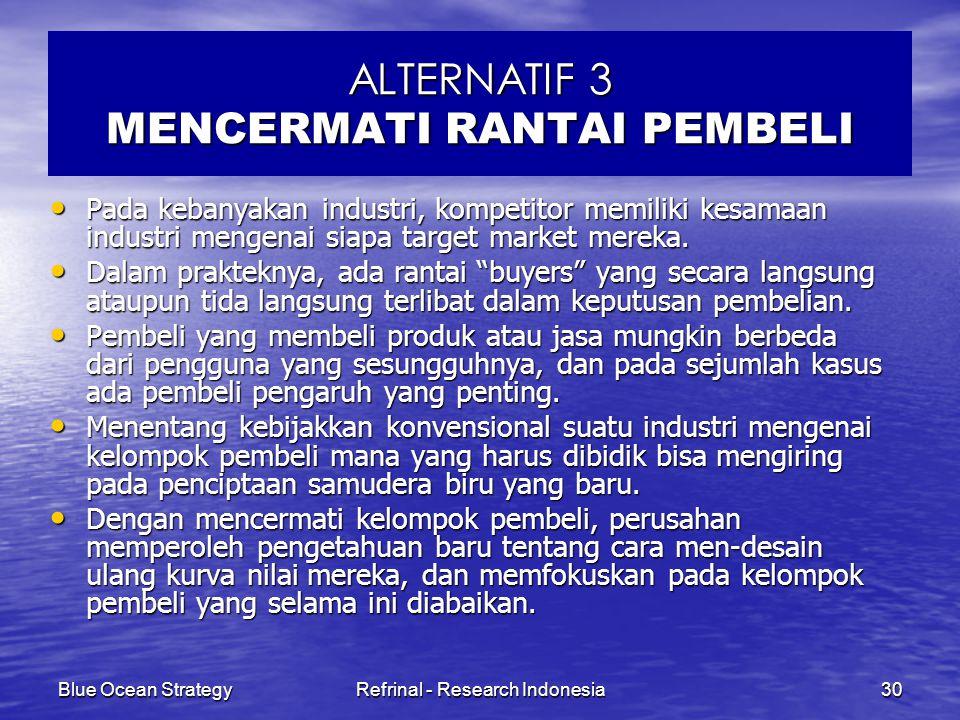 ALTERNATIF 3 MENCERMATI RANTAI PEMBELI