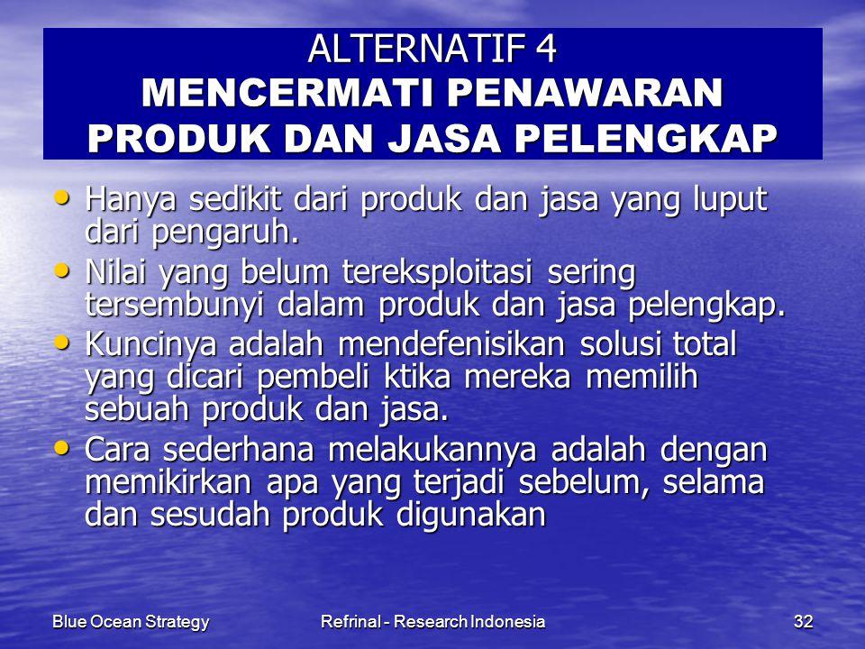 ALTERNATIF 4 MENCERMATI PENAWARAN PRODUK DAN JASA PELENGKAP