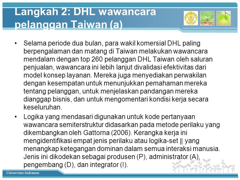 Langkah 2: DHL wawancara pelanggan Taiwan (a)