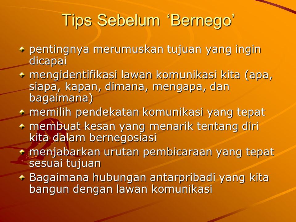 Tips Sebelum 'Bernego'