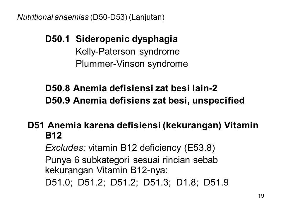 Nutritional anaemias (D50-D53) (Lanjutan)