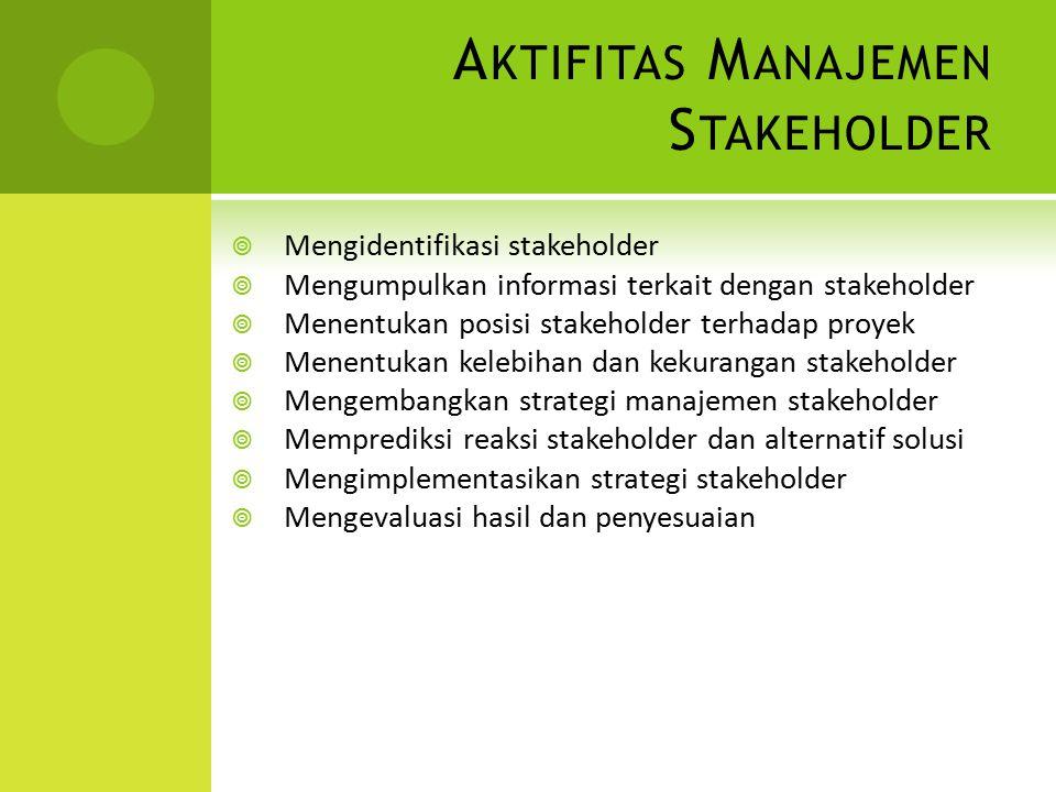 Aktifitas Manajemen Stakeholder
