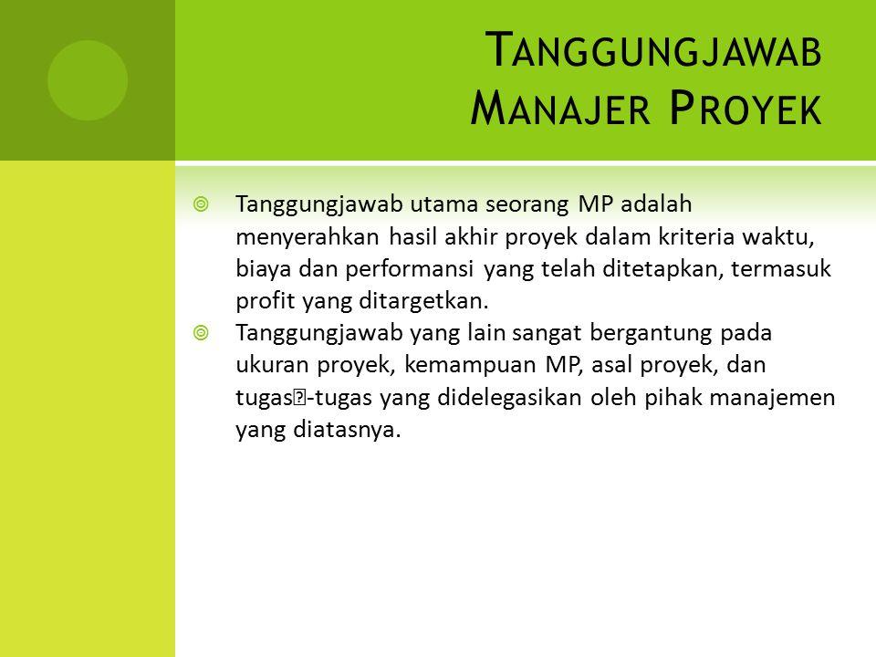 Tanggungjawab Manajer Proyek
