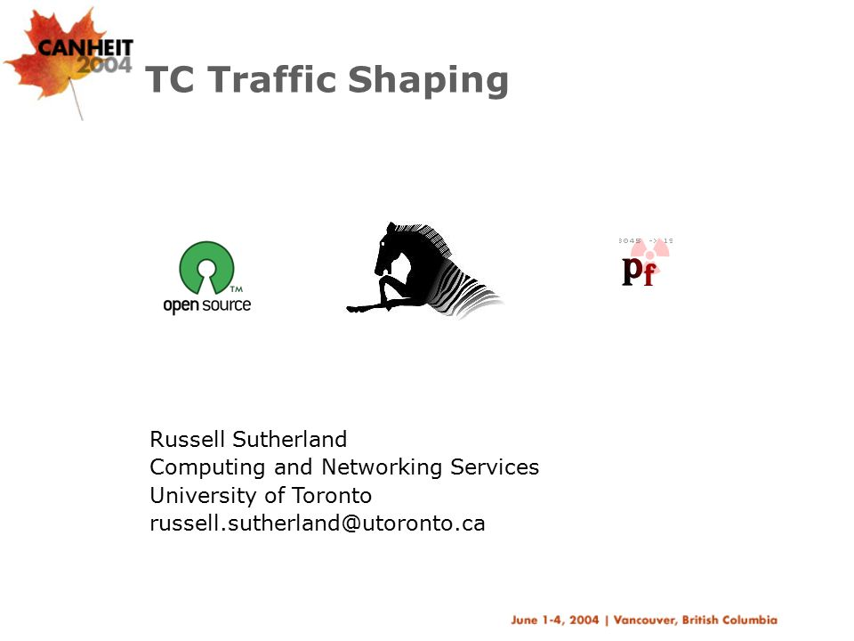 TC Traffic Shaping Russell Sutherland