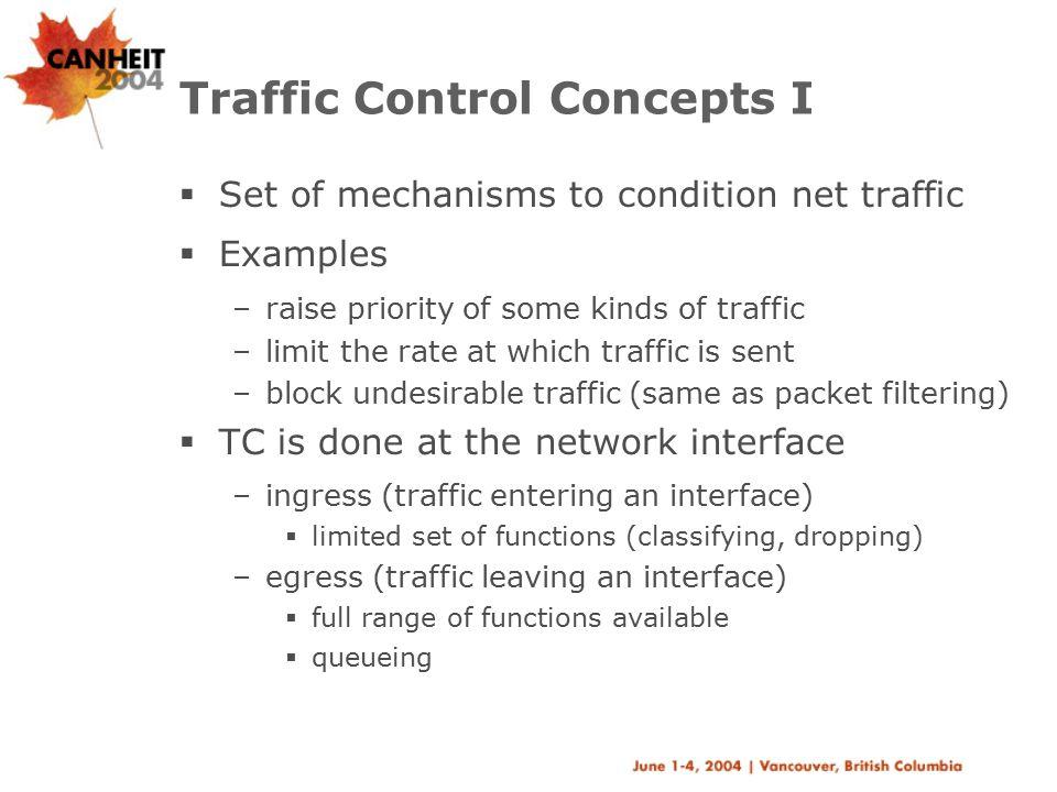 Traffic Control Concepts I