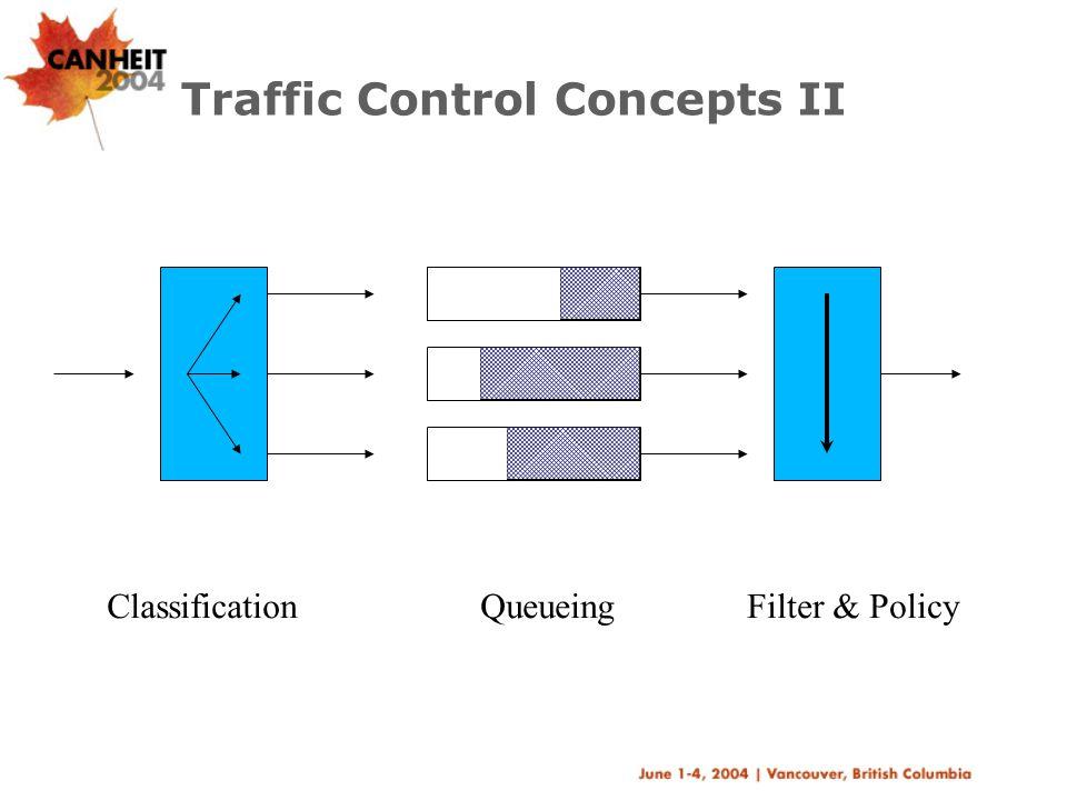 Traffic Control Concepts II