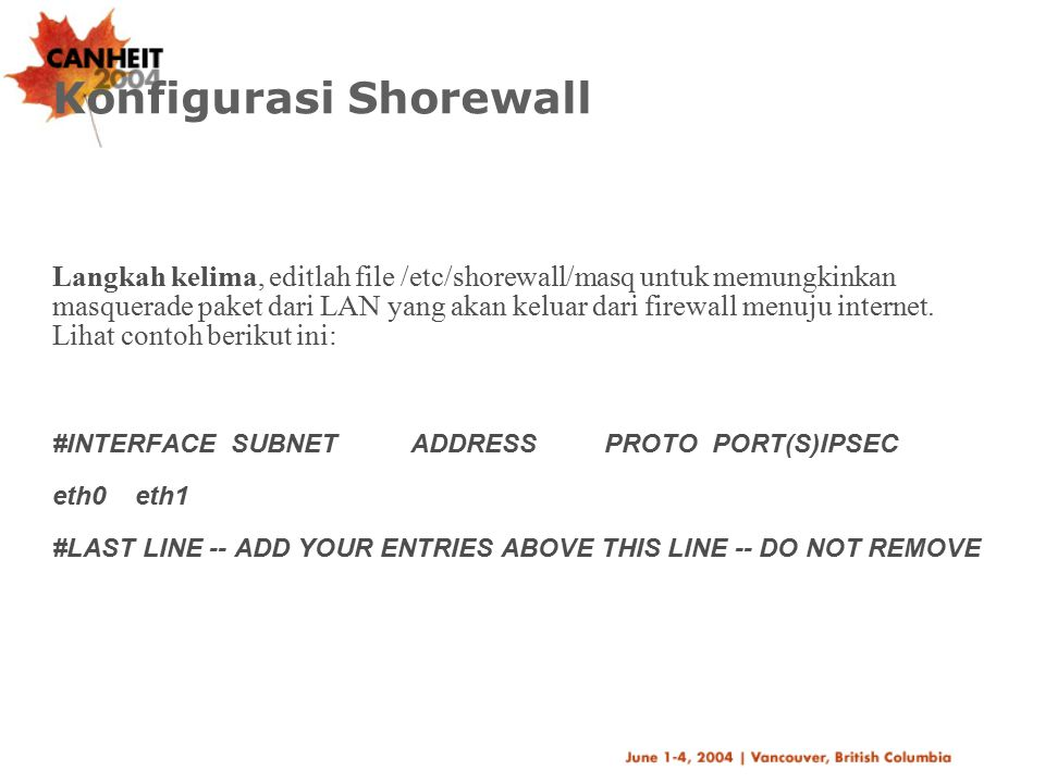 Konfigurasi Shorewall