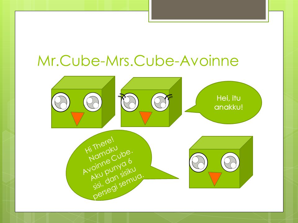 Mr.Cube-Mrs.Cube-Avoinne