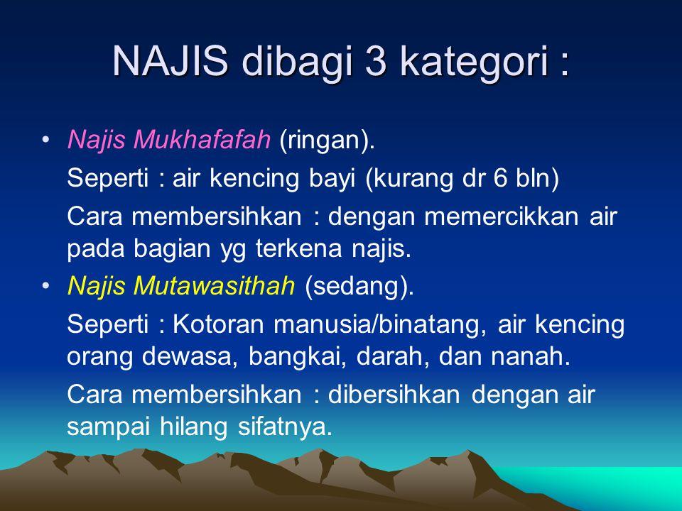 NAJIS dibagi 3 kategori :